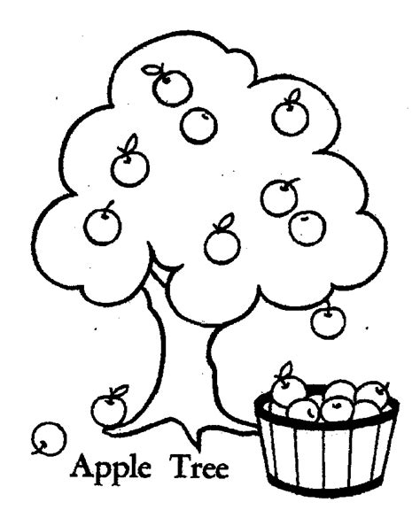 Apple Tree Coloring Pages free coloring pages of apple tree