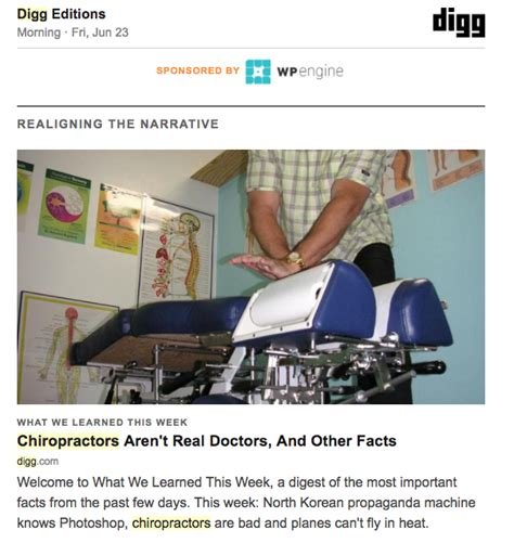Bye Chiropractors by Goodbye Digg It S Been Knowing You Chiropractic