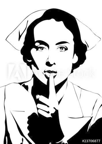 """""""Enfermera pidiendo silencio"""" Imágenes de archivo y"""
