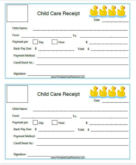 child care receipt template pdf 5 daycare invoice templates exles in word pdf