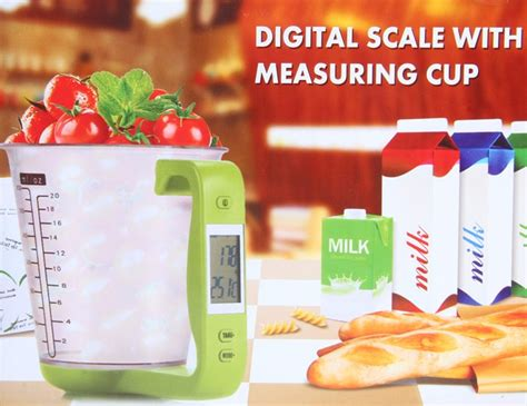 Hostweigh Teko Takaran Digital 600ml Dengan Timbangan Digital 1kg 1g Teko Timbangan Digital Takaran Dengan Layar Lcd