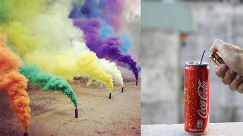 Colla Bpom how to make a coca cola color smoke bomb