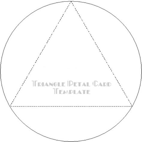 triangle card template craft supplies paper crafts free templates earth