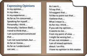 Expressing Opinion Essay by Expressing An Opinion Exle Sentences