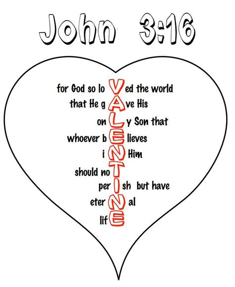printable valentine games for church printable quot john 3 16 quot valentine heart children s