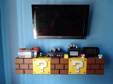 super mario brick shelves  kids bedroom designed