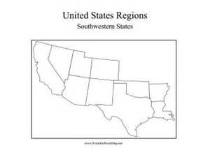blank us map southwest region blank map southwest states
