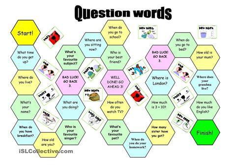 preguntas de juego ingles question words preguntas wh pinterest preguntas