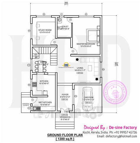 Ground Floor Plan | floor plan of ultra modern house kerala home design and