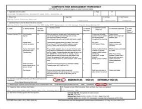 Army Composite Risk Management Worksheet For A Pt Test I » diy ...
