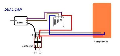 wiring diagram two capacitor motor replaced outdoor fan motor now the whole system won t come on doityourself community forums