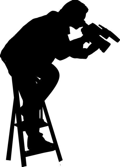 silhouette cameraman job  vector graphic  pixabay