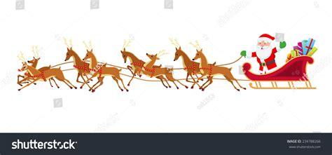 santa sleigh reindeer stock vector 234788266 shutterstock