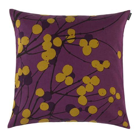 Marimekko Pillows Sale by Marimekko Lumimarja Purple Throw Pillow Marimekko Fabric