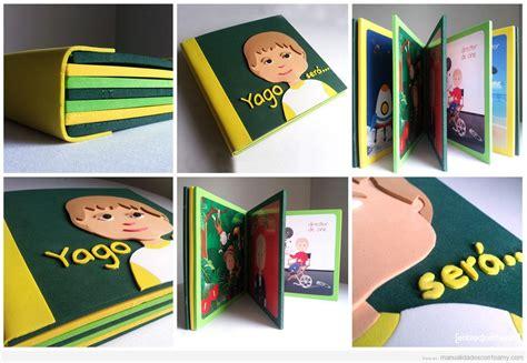 libro ni un pedazo de libro personalizado para ni 241 os hecho con foamy manualidades con foamy