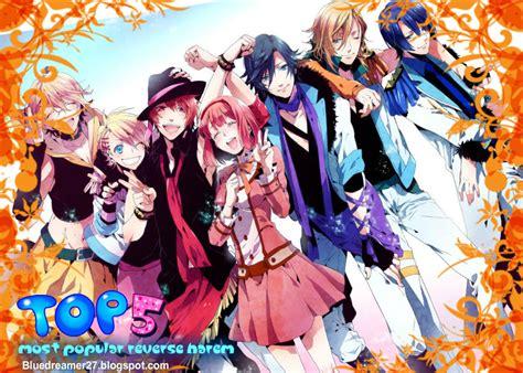 anime harem top five top five most popular reverse harem anime