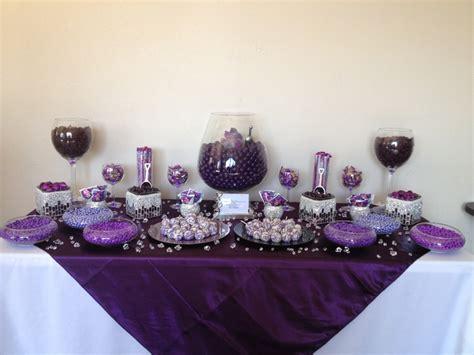 Purple Candies Birthday Party Sweet Sixteen Quince Purple Wedding Buffet