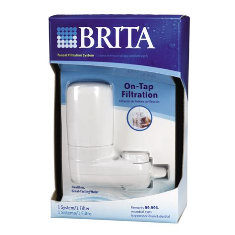 shop brita faucet mount water filtration system at lowes