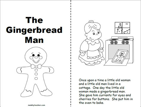gingerbread man easy reader printable gingerbread man printable book 1st and 2nd madebyteachers