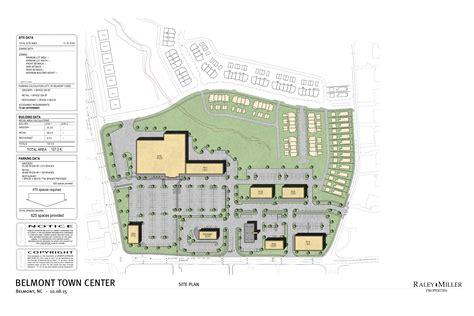 site plan drawing a10 belmont town center raley miller properties