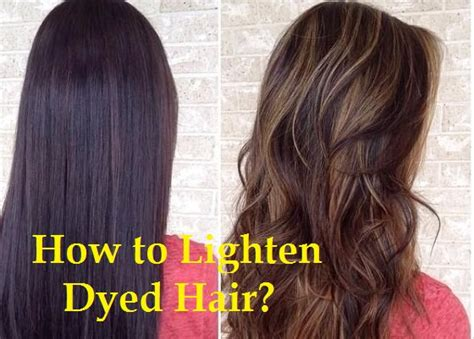 Dyed Hair Too Dark Brown How To Lighten Best Hair Color 2017