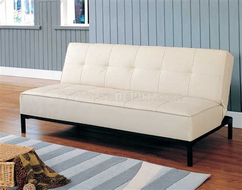 Vinyl Sofa Bed 4790pu Convertible Sofa Bed In Vinyl By Homelegance