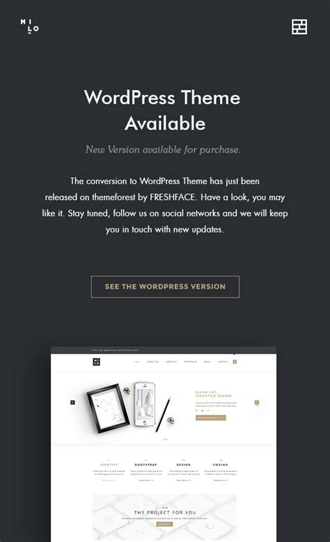 milo template milo clean modern multi purpose html5 template by