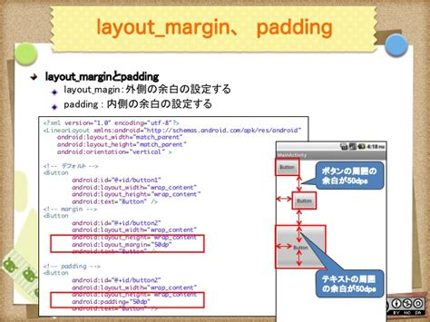 android layout margin padding android uiデザイン入門