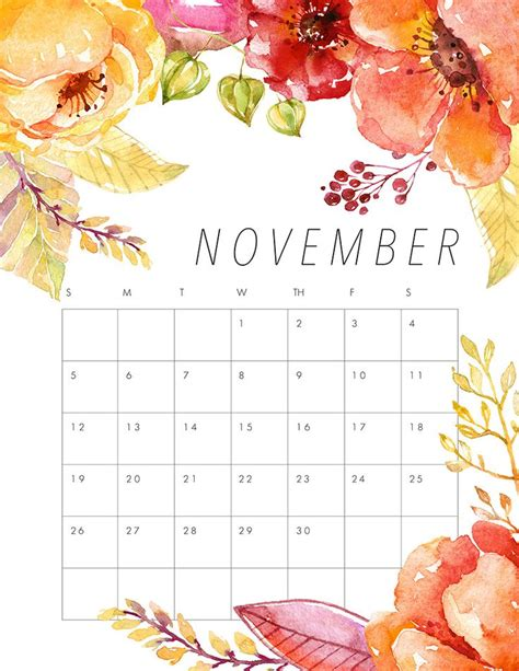 Calendar 2017 November Thanksgiving November 2017 Calendar Thanksgiving Printable Templates