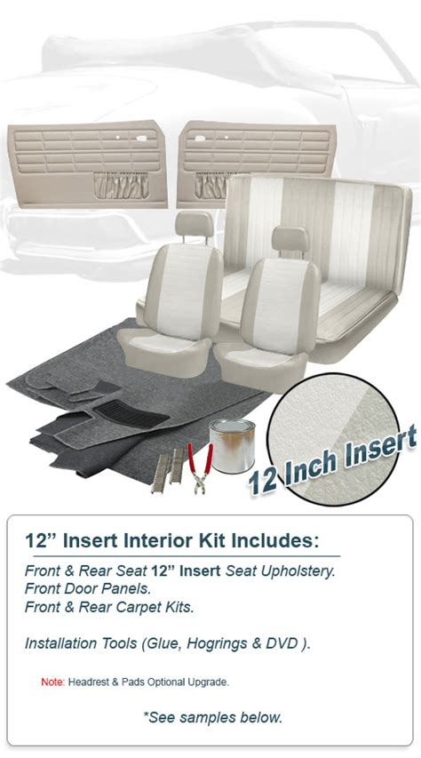 vw upholstery kits deluxe 12 inch insert vw interior kit karmann ghia