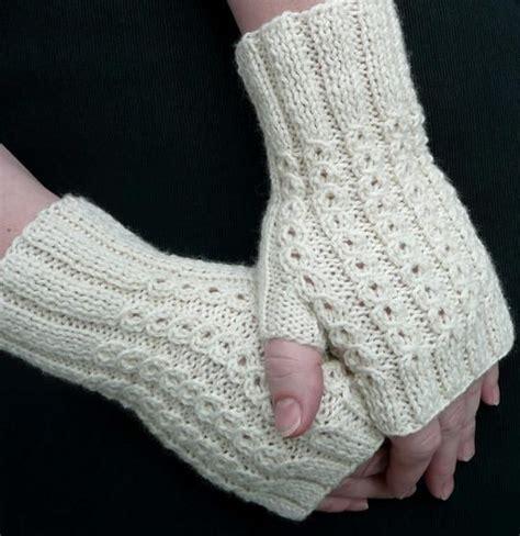 free pattern easy knit fingerless gloves bonbons fingerless mitts knitting patterns and crochet