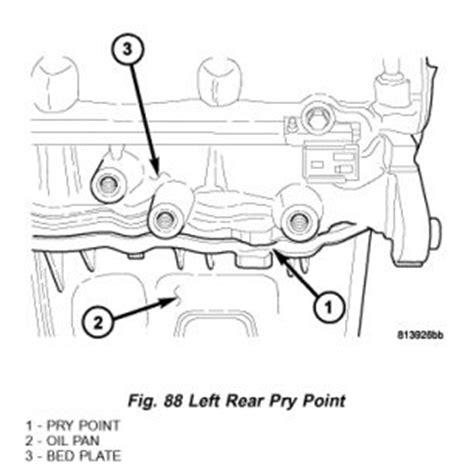 2005 Dodge Stratus Oil Pan Removal Service Manual 2005