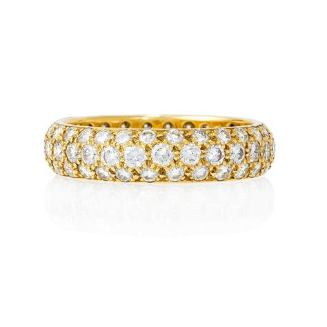 ct diamond  yellow gold eternity wedding band ring