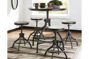 odium counter height dining room table and bar stools set