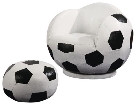 soccer ball chair with ottoman coaster small kids soccer ball chair and ottoman 460178