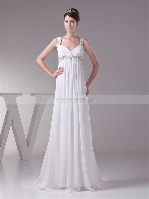 Brautkleid Empire by Empire Cut Chiffon Wedding Dress With Beading Decor