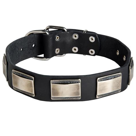 Handmade Leather Collars Uk - buy handmade leather collars with silver plates