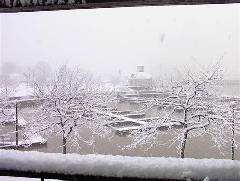 boat basin huron oh huron oh huron boat basin under heavy snow photo
