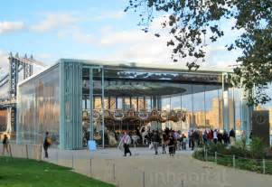 photos historic jane s carousel opens at brooklyn bridge park in a jean nouvel pavilion jane s