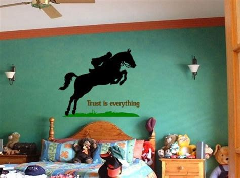 horse decal pony quote wall sticker teen girls room decal horse wall decal quote wall sticker girls bedroom pony