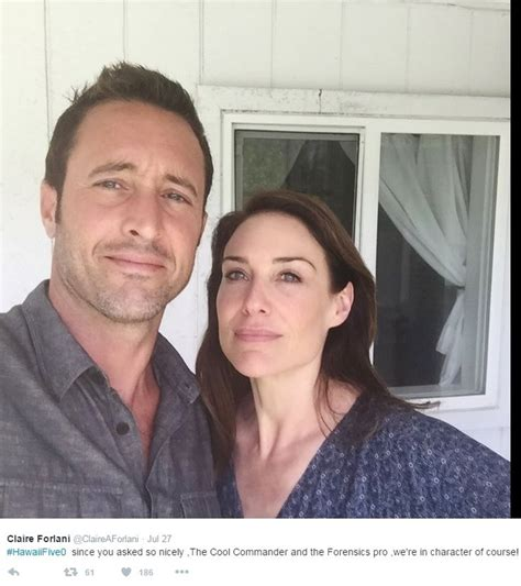 claire forlani hawaii five 0 season 8 claire forlani claireaforlani with alex o loughlin bts