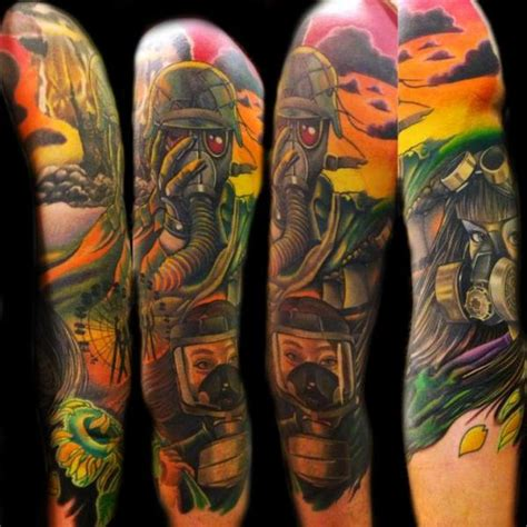 arm mask soldier tattoo by transcend tattoo