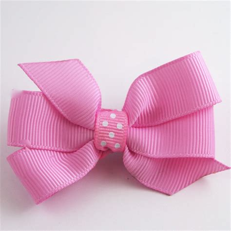Soft Bows High Quality Handmade classic soft pink handmade bow hair clip sweetprintsclips madeit au