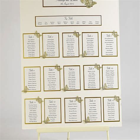 diy wedding table plan uk butterfly wedding table plan seating kit a2 confetti co uk