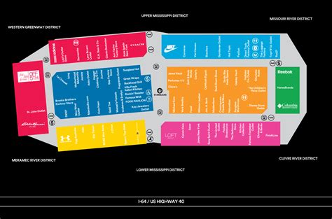 layout of chesterfield mall complete list of stores located at st louis premium