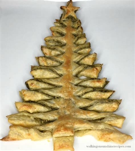 recipe christmas tree puff pastry appetizer with pesto