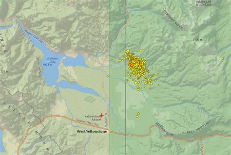 earthquake yellowstone did you feel it yellowstone earthquake swarm not a sign