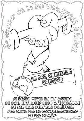 Dibujos para colorear del Día Escolar de la No Violencia y