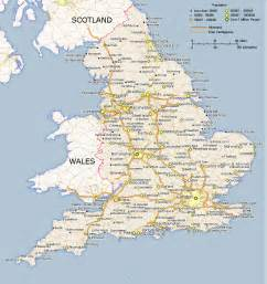 England On A Map by Map Of England England Edu