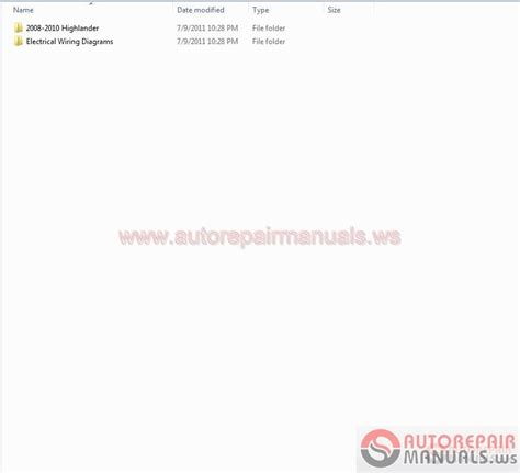 auto repair manual free download 2008 toyota highlander seat position control toyota highlander 2008 2010 workshop manual auto repair manual forum heavy equipment forums